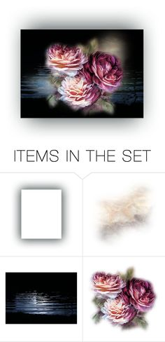 """""""roses"""" by lovetodrinktea ❤ liked on Polyvore featuring art"""