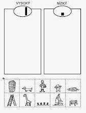 """Kategorizace: ze spodních obrázků vytvoříme kartičky, které pak dítě třídy do příslušných """"přihrádek""""."""