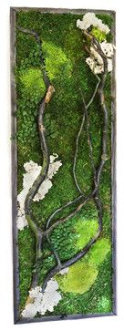 """The Woodlands"" Plant Painting (care-free preserved green-wall art) modern originals and limited editions 260$"