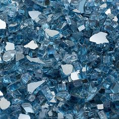10lb. Sky Blue Reflective Tempered Fire Glass