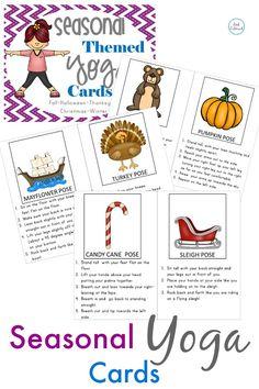 Seasonal Yoga Pack (September - December) Fall Yoga, Halloween Yoga, Thanksgiving Yoga, Christmas Yoga, Winter Yoga