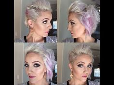 Quick and easy short hair tutorial - YouTube