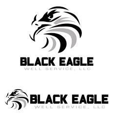 Black Eagle Logo www.Quick-DrawDesign.com