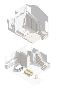 3 Spiritual Clever Tips: Minimalist Bedroom Interior Clothing Racks minimalist home with children spaces.Minimalist Home With Children Spaces minimalist interior architecture studios. Sketchbook Architecture, Architecture Design, Architecture Graphics, Architecture Diagrams, Architecture Collage, Axonometric Drawing, Isometric Drawing, Portfolio D'architecture, Minimalist Decor