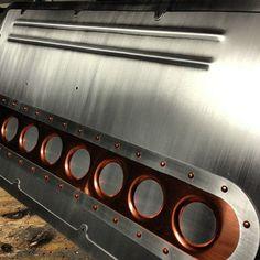 custom low lux aluminum door panels all together. copper rivets Ryans sheetmetal design: