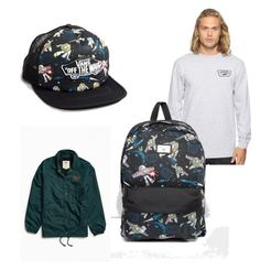 """""""to infinity......."""" by chantelelmore ❤ liked on Polyvore featuring Vans, men's fashion and menswear"""
