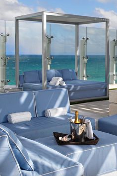 The rooftop pool lounge offers stunning panoramic ocean views. Grand Beach Hotel Surfside (Surfside, Florida) -Jetsetter