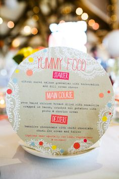 I would not use this style, but the menu is amazing, I would really like to serve this at my wedding.