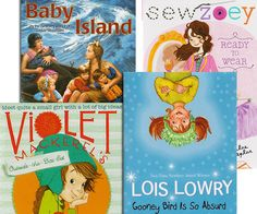 #Sonlight Elementary School Girls Summer Reading Package 2014. * Baby Island * Sew Zoey Ready to Wear * Violet Mackeral's Outside-the-Box Set * Gooney Bird is So Absurd