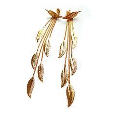 #Bijou Femme :: #Boucles d' #oreilles #Plume - Disponibles en #Or Blanc ou en Or Jaune.