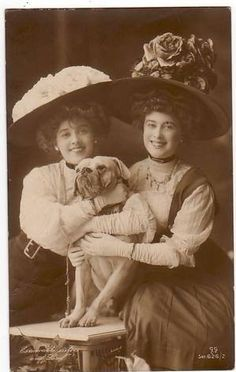 """""""We do love our hats, dontcha know!!"""". Circa 1910."""