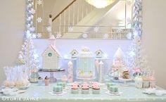 Winter Wonderland dessert table by Torie Jayne