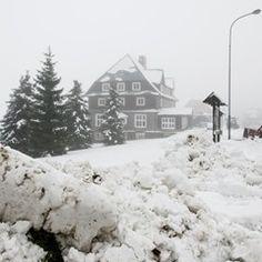 The first snow of the season in Czech Republic blankets Horni Mala Upa