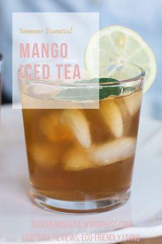 My summer cool down: raspberry leaf, mango iced tea Iced Coffee, Coffee Drinks, Healthy Eating Recipes, Vegan Recipes, Mango Iced Tea, Homemade Iced Tea, Intuitive Eating, Coffee Recipes, Vegan Food