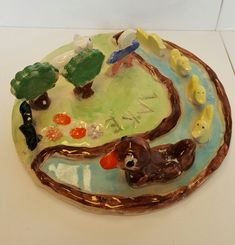 Examples of Clay Projects made at kids Birthday Parties and Kids classes.