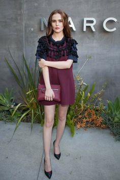 Zoey Deutch wearing Marc Jacobs SS14 at the Marc by Marc Jacobs FW14 Preview Party in Los Angeles