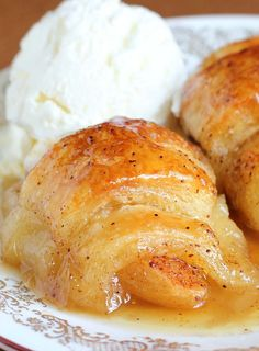 Don't be fooled by the ingredients. The Crescent rolls stuffed with apple, cinnamon sugar and Mountain Dew does something similar to magic in the pan. (crescent roll apple dumplings with orange juice) Crescent Roll Apple Dumplings, Crescent Roll Recipes, Crescent Rolls, Pilsbury Crescent Recipes, Crescent Roll Apple Turnovers, Crescent Dough Sheet Recipes, Apple Desserts, Apple Recipes, Fall Recipes