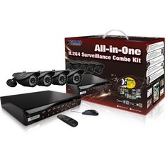 KGuard NS801-4CW214H-500G All-In-One H.264 Surveillance Combo Kit with DVR and 4 Weatherproof Day/Night Cameras by KGuard. $299.99. KGUARD All-in-One DIY surveillance solution is designed to safeguard your home & business 24/7. This package includes a beautifully designed 8CH DVR, 4 high-quality outdoor CCD cameras, accessories and everything you need to set the system running with incredibly powerful features & friendly interface. With more than 13 years of experience in ...