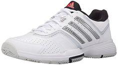 adidas Performance Womens Barricade Court 2 W Training FootwearWhiteMetallic SilverBlack8 M US -- Want additional info? Click on the image.