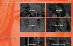 "Disseny web ""Pensa en gran  / Piensa en grande / Think Big"" Campanya Blanquerna, 2013-2014. Disseny: agència BUM. #design #university #Blanquerna"