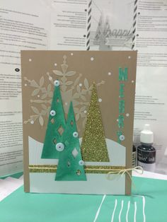 Stampin' Up! demonstrator Beth B's project showing a fun alternate use for the Watercolor Winter Simply Created Card Kit.