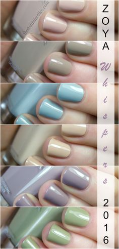 The new Zoya Whispers Transitional Collection for 2016 consists of 6 muted, tranquil cremes that are anything but boring. See my swatches & review!