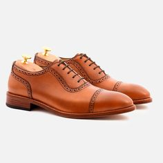 Durant Oxford Brogues - Calfskin Leather - Tan