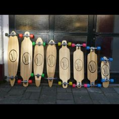 Longboards!  Love the colors with the wood