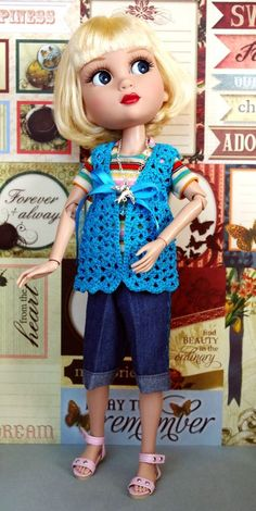"""ReTRo STRiPe~ a 3 PC Outfit for Tonner Patience 14"""" DoLLs CLOTHES CuTe CLOTHING! #ClothingAccessories"""