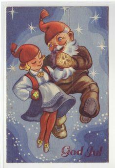 God Jul- (dansende nisser) brukt 1946. Utg Oppi