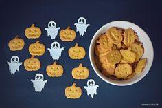 Rezept: Halloween Kürbis-Frischkäse Hundekekse backen