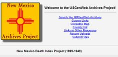 New Mexico Death Index Project  (USGenWeb)