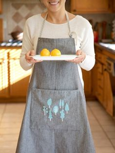Create a Charming Pocket Apron and add a sweet appliqué to the pocket. Find the apron template and tutorial at WeAllSew.