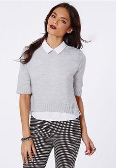 Kristyana Soft Knit Cropped Jumper - Knitwear - Jumpers - Missguided
