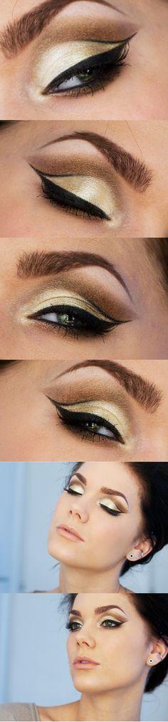 Gorgeous cut crease makeup by Linda Hallberg