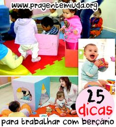 25 sugestões de atividades para berçário | Pra Gente Miúda Baby Sensory Play, Au Pair, Kids Seating, Working With Children, Happy Baby, Speech And Language, School Projects, Toddler Activities, Kids And Parenting