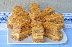 Prăjitura Krantz cu nucă caramelizată și cremă de vanilie - rețeta veche a bunicii savori urbane