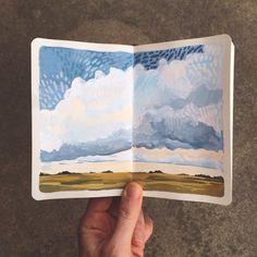2.25.15 / Carrie Shryock / 1canoe2 #art #journal #sketchbook #moleskine