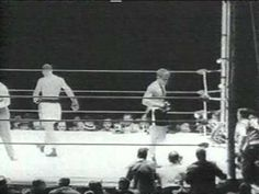 """Rocky """"The Brockton Blockbuster"""" Marciano vs Roland La Starza II Polo Grounds, New York, New York Boxing Fight, Win Or Lose, Sports Illustrated, Yorkie, Martial Arts, Youtube, Yorkies, Yorkshire Terrier, Combat Sport"""