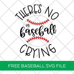 There's No Crying in Baseball SVG File to make a DIY Baseball Shirt with links to 14 other FREE Baseball SVG Files. Find them all at Pineapple Paper Co. Cricut Htv, Svg Files For Cricut, Cricut Craft, No Crying In Baseball, Baseball Mom, Silhouette Machine, Papers Co, Cool Diy Projects, Svg Cuts