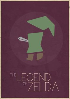 The Legend of Zelda. I like that Link doesn't have a head or discernible body for that matter.