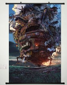 Anime Howls Moving Castle Home Decor Wall Scroll Poster Fabric Painting Hauru  Sof 236 x 354 Inches 007 ** You can get more details by clicking on the image. (This is an affiliate link)