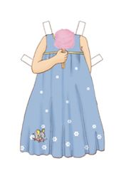 ღ¸.•*¨`*•.•❥ Dress Up Belle Clothes - Forget-Me -Not Dress