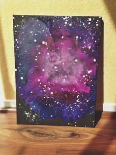 Nebula melted crayon art