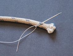 The end of a line (rope) on a sailboat should be whipped to prevent unraveling and fraying at the end. Whipping is the best and most long-lasting method for preventing problems.