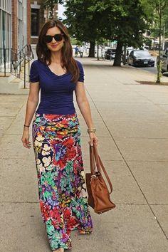 Floral maxi  Teacher maxi skirt