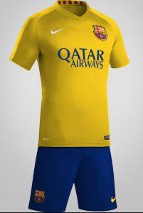 Barcelona Away Kit Leaked Soccer Kits, Football Kits, Football Soccer, Barcelona Outfit, Barcelona 2015, Team Shirts, Sports Shirts, Fc Barcalona, Soccer