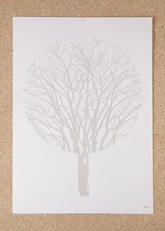 Urban Forest (A3 Screenprint in Silver / Limited Edition) on Etsy, 18,04€