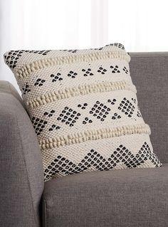 22ba4aee9d0c Rustic textured jacquard cushion 45 x 45 cm