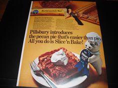 Pillsbury Butterscotch Nut - Doughboy Blue Ribbon 1969 Magazine Print Ad